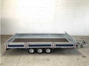 Aanhangwagen auto BRIAN_JAMES Cargo Connect 3 Achs Ramp+BW Hochlader Maschinentransporter