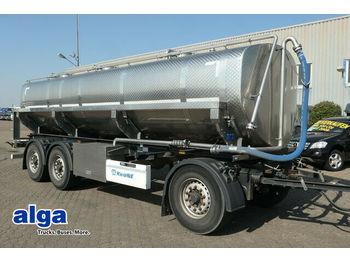 Krone AD, Alu, 18m³, Lebensmittel, 3 Kammern, Scheibe  - tank aanhangwagen