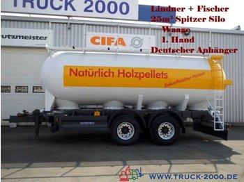 Spitzer Spitzer 25m³ Silo für Pellets Staub-Riesel-Waage - tank aanhangwagen