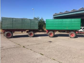Fortschritt HW 80-Zug mit Silageaufbau, Einsatzbereit - farm tipping trailer/ dumper