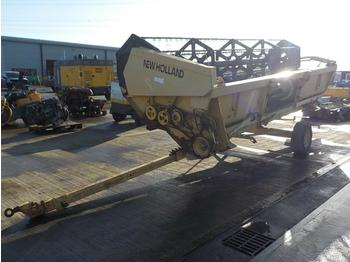 New Holland Header to suit Combine Harvestor, Single Axle Trailer - grain header