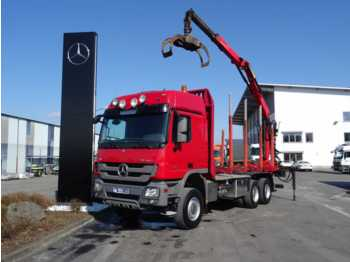 Mercedes-Benz Actros 3355 AK 6x6 V8 Holztransporter/Kurzholz  - timber transport