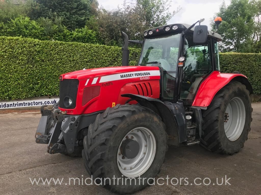 MASSEY FERGUSON 6480 wheel tractor from United Kingdom for