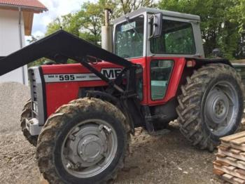 Massey Ferguson 595 wheel tractor from Belgium for sale at