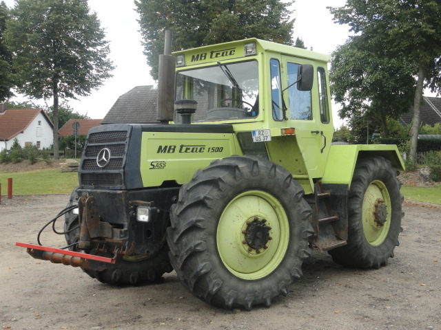 mercedes benz 1500 mb trac wheel tractor from germany for. Black Bedroom Furniture Sets. Home Design Ideas
