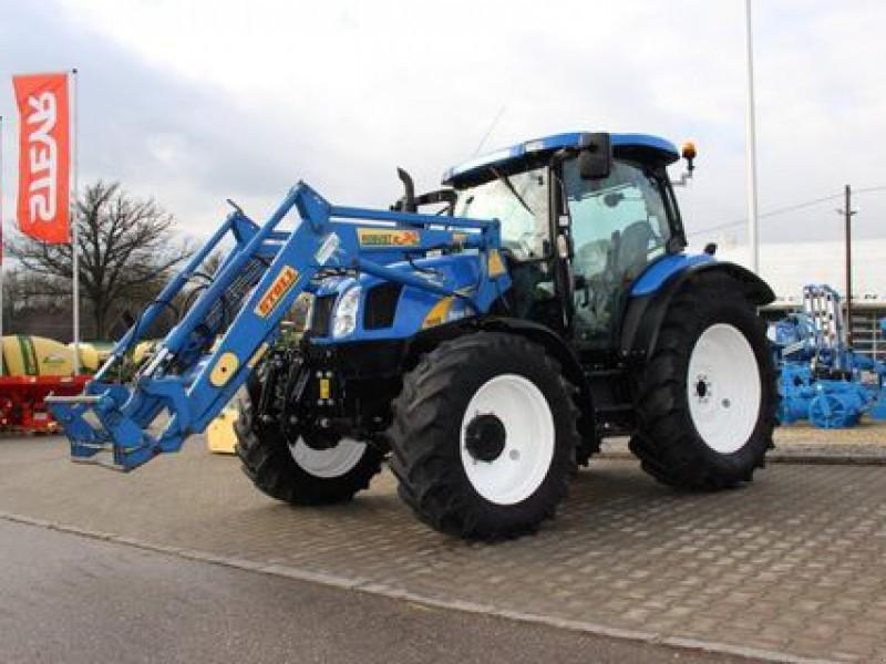 Prächtig New Holland TS 100 A mit Frontlader und Fronthubwerk wheel tractor &ZX_64