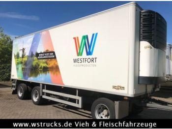 Kühlkoffer Anhänger Chereau 8,10m Rohrbahn Carrier Maxima 1300 Strom/Diesel