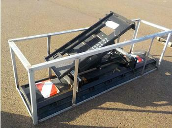 "Unused 86"" Hydraulic Snow Plough to suit Skidsteer Loader - bucket"