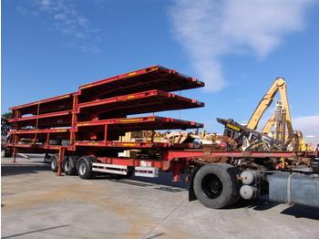 Tirsan 1 TRAILER+4 PLATFORM - Container/ Wechselfahrgestell Auflieger