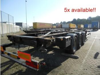 Tirsan CS 40ft + 45ft Normaal en high cube! 5x - Container/ Wechselfahrgestell Auflieger