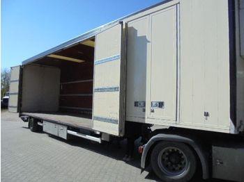 Floor 1 axle steering, air suspension, side doors, taillift, heating - koffer auflieger