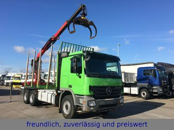 Mercedes-Benz * ACTROS 2655 * PALFINGER KRAN *  - houttransport