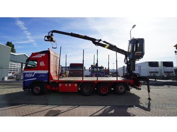 Volvo FH500 8X4/4 TIMBER TRANSPORT WITH JONSERED 1080 79R CRANE - houttransport