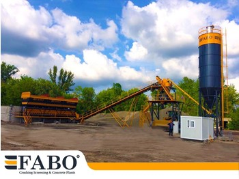 fabo 75m3/h STATIONARY CONCRETE MIXING PLANT - betoncentrale