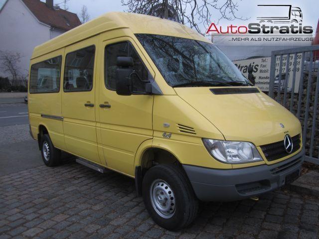 mercedes-benz sprinter 313 cdi allrad 4x4 hoch 8+2 sitzer minibus
