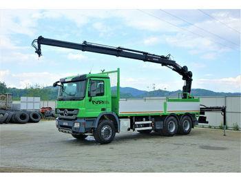 Camião caixa aberta Mercedes-Benz Actros 2636 Pritsche 6,40m+KRAN/FUNK 6x4 !!!