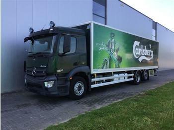 Mercedes-Benz ANTOS 2533 6X2 BOX STEERING AXLE EURO 6  - camião furgão