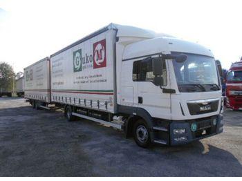 Camião toldo MAN TGL 12.250 EURO6 + Anhanger tandem: foto 1