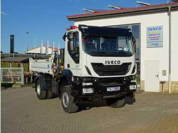 Caminhão basculante Iveco AD190T33W 4x4 Kipper + Kran Fassi F120 + Funk