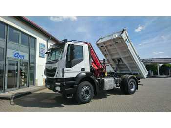 Caminhão basculante Iveco AD190T33 4x2 Kipper + Kran Fassi F120 + Funk