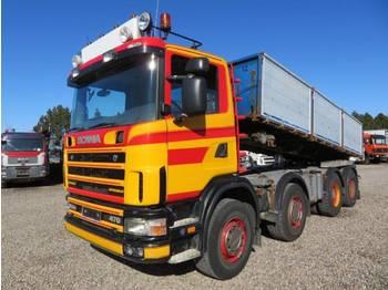 Caminhão basculante Scania 124/470 8x4 Blatt / Blatt, Schaltgetriebe