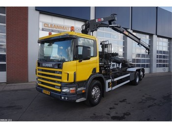 Caminhão multibenne Scania P 114.340 HIab 12 ton/meter laadkraan: foto 1