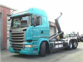Caminhão polibenne Scania R 410 6x2 Abrollkipper Meiller, Lift/Lenk