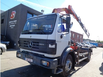 Camion ampliroll Mercedes-Benz SK 1824 effer 150-35 3x Ext+ remote+hook NEW tyres