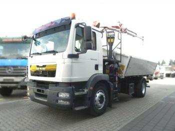 Camion basculantă MAN TG-M 18.290 4x2 2-Achs Kipper Kran 11m/to., Grei