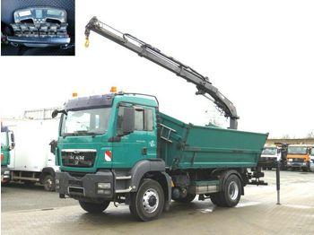 Camion basculantă MAN TG-S 18.320 4x4H BL 2-Achs Allradkipper Heckkran