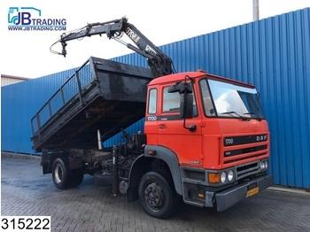 DAF 1700 Turbo, Hiab Crane, Steel suspension, Manual - camion benne