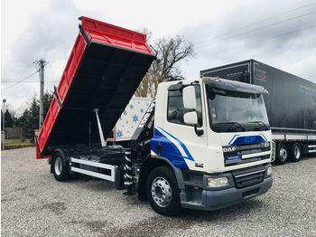 DAF CF 75.250 Euro5 , 4x2 Nowa 3-stronna wywrotka + Atlas 080.1 kran - camion benne
