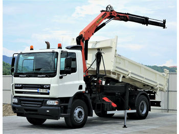 DAF  CF 75.250 *Kipper+Bordmatic 4,70m+Kran  - camion benne