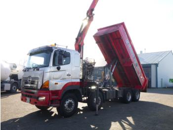 Hino FY1EUKA 8x4 tipper RHD + Palfinger E120L + grapple - camion benne