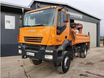 Iveco TRAKKER AD190T31W 4x4 meiller tipper + removable crane - camion benne
