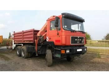MAN 26.322 6x6 meiller tipper + crane palfinger PK 22.000 - camion benne
