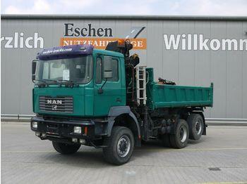 Camion benne MAN 26.364 FANLC, Liftachse, Hiab 125 Kran