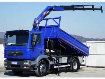 Camion benne MAN TGM 18.240 Kipper 4,30 m + KRAN !!