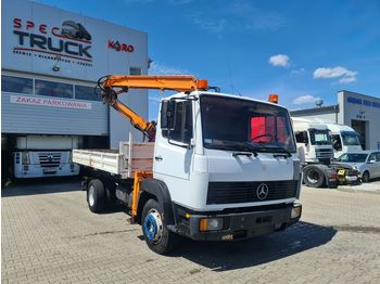 MERCEDES-BENZ 1117, TIPPER WITH CRANE 4X2, FULL STEEL, MANUAL - camion benne