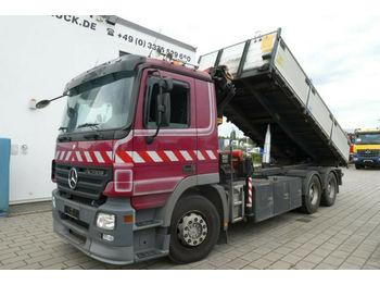 Mercedes-Benz Actros 2632 6x4 3-Achs Kipper Kran  - camion benne