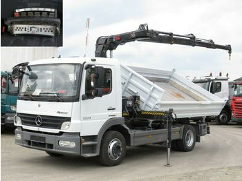Mercedes-Benz Atego 1224 K 2-Achs Kipper Kran Funk+Greiferst.  - camion benne