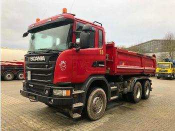 Camion benne Scania G480 6x4 Euro 5 Kipper Meiller Bordmatic