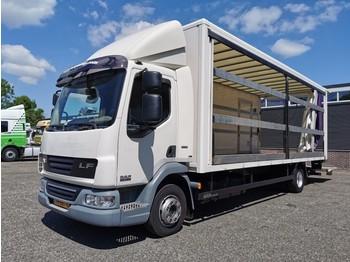 DAF LF45-180 4x2 Dagcabine EEV - SAXAS Zeilen - Gesloten 7.25m - 2000kg Laadklep - TOP! - camión caja cerrada