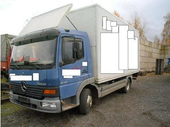 Mercedes-Benz 812 Koffer LBW + NL 2640 KG + Reifen 80 % 221 KM  - camion furgon