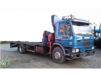 Camion plateau Scania 113 - 92 Kran HIAB 080 Blatt Manual: photos 1
