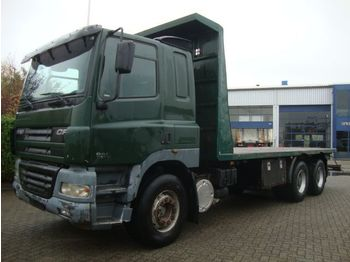 Camion plateau ridelle DAF 480 6X4 STEEL SPRINGS 8 M CHASSIS