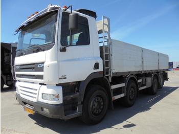 DAF CF85.380 MANUAL 8X2 - camion plateau ridelle