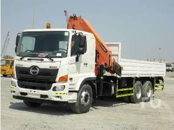 HINO 2827 500 6x4 - camion plateau ridelle