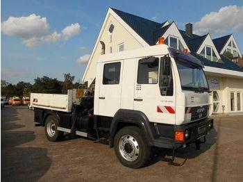 Camion plateau ridelle MAN 10180