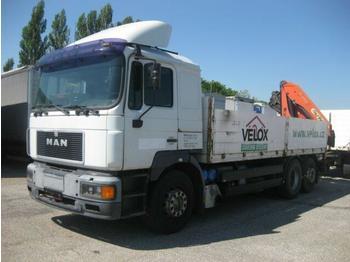 MAN - 26.403 FNLLW - camion plateau ridelle